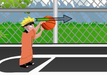 Naruto jugando al baloncesto
