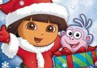 Puzzle de navidad con Dora la exploradora