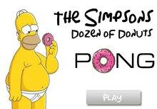 El pong de la docena de donuts de los Simpson