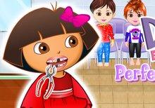 Los dientes perfectos de Dora la exploradora