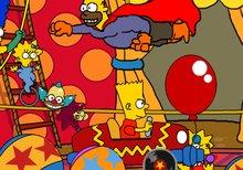 Viaje en coche por el circo de Krusty el payaso