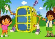 Dora y Diego creando los disfraces más divertidos