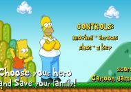 Bart y Homer en Mario World