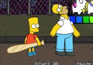 Golpea en el culo a Homer