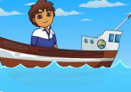 Diego limpiando el océano