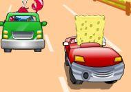 Bob Esponja en las carreras de coches