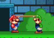 Mario, Luigi y la cama elástica