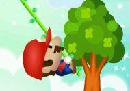 Mario saltando en la jungla