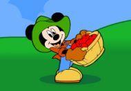 Mickey el recolector de manzanas