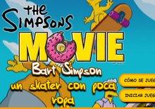 Bart Simpson, un skater con poca ropa
